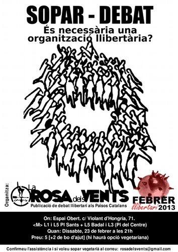 Cartell Sopar-Debat: És neccesària una organització llibertària?